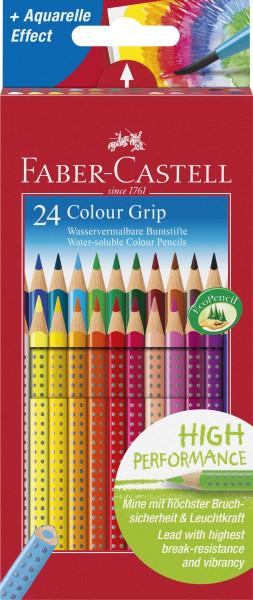 Faber-Castell Farbstift Colour GRIP, 24 Farben sortiert im Kartonetui