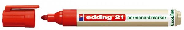 EDDING Permanentmarker 21 EcoLine, nachfüllbar,Rot
