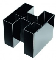 HAN Schreibtischköcher mit 5 Fächern schwarz