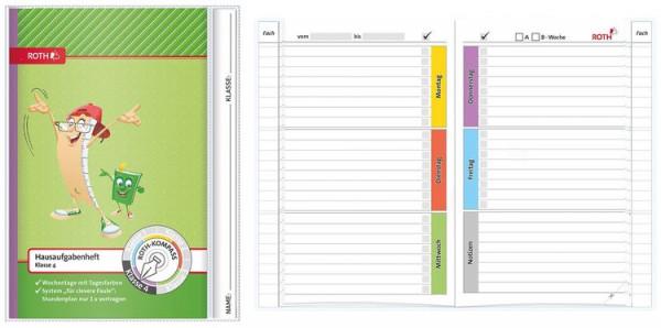 Roth Schreiblern Hausaufgabenheft 4.Klasse Format A5