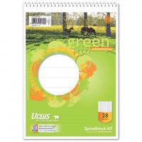 GREEN Schulblock mit Spirale A5 Lineatur 28