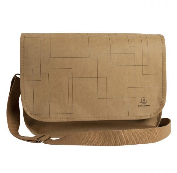 Exacompta Eterneco Umhängetasche aus Papier mit Fach für Laptop und Tablet