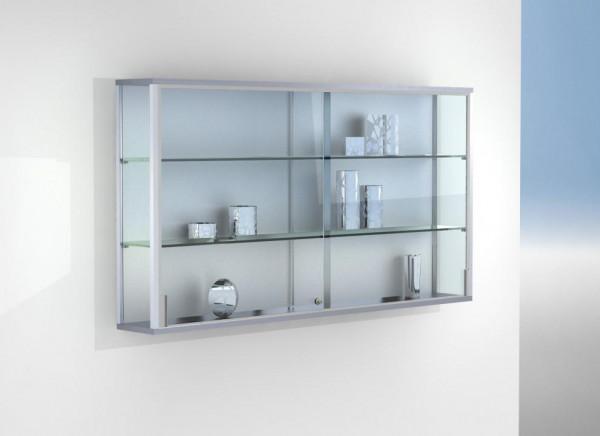 Glas Wandvitrine 150 x 20 x 80 cm