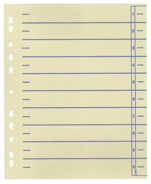 Trennblätter A4 mit farbigen Organisationsdruck 100 Stück