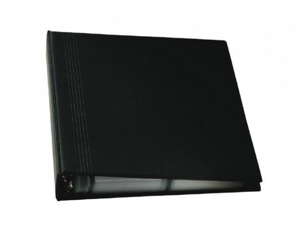 Sigel Visitenkarten Ringbuch schwarz für 400 Karten bis 90x58mm