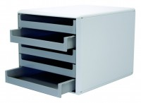 Schubladenbox mit 5 Schubladen hellgrau/dunkelgrau
