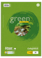 608575025-Green-Collegeblock-A4-Pure-Impact-liniert-mit-Rand