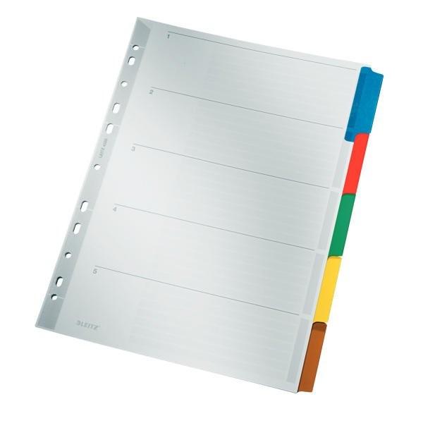 Leitz Karton Register A4 mit 5 Farben