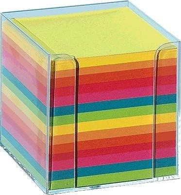 615347-Folia-Notizzettel-mit-Box-glasklar-Neonfarben