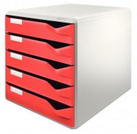 LEITZ Schubladenbox 5 Fächer rot