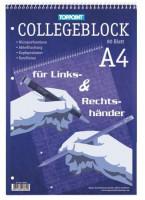 Collegeblock für Links- und Rechtshänder