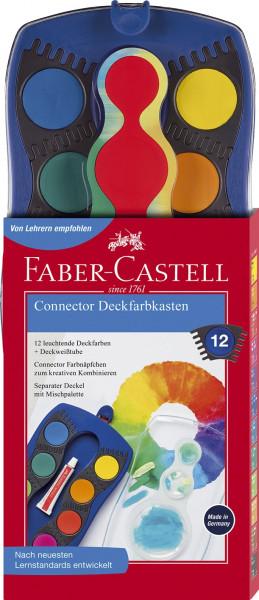 FABER-CASTELL Connector Farbkasten 12 Farben blau