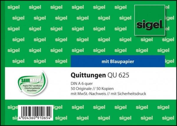 Sigel QU625 Quittungen mit MwSt Nachweis