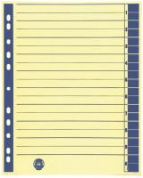 Trennblätter mit blauem Rand