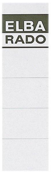ELBA Rado Einsteck-Rückenschilder kurz/breit weiß 10 Stück