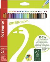 Dünne Stabilo Greencolors Buntstifte umweltfreundlich 24 Farben
