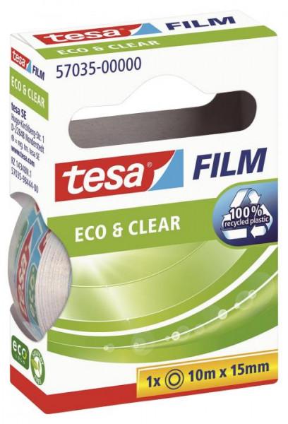 tesafilm Eco & Clear unsichtbar 10 m x 15 mm
