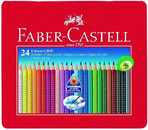 Faber-Castell Farbstifte Grip 2001 24 Stück Metalletui