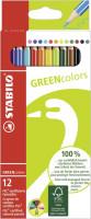 Dünne Stabilo Greencolors Buntstifte umweltfreundlich 12 Farben