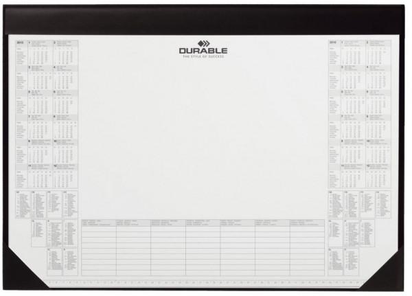 DURABLE Schreibunterlage mit Kalenderblock 25 Blatt 590 x 420 mm, schwarz