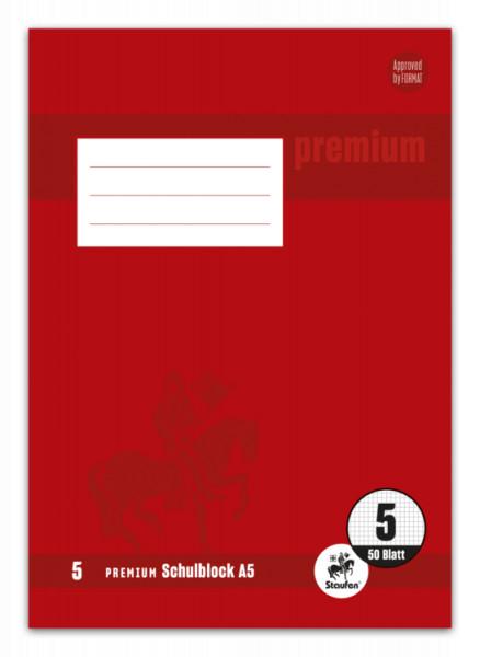 Staufen Premium Schulblock A5 für die 5.Klasse