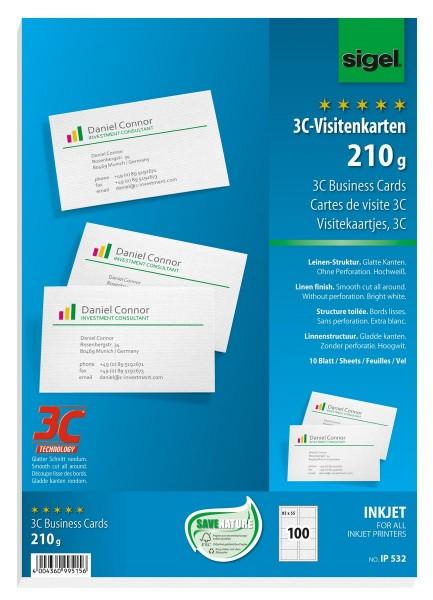 766322-Visitenkarten-3C-85x55mm-A4-210g-weiss-100St-Leinenst