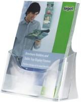768072-Tisch-Prospekthalter-acrylic-1-Fach-fuer-A5-glasklar