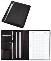 Alassio Konferenzmappe A4 schwarz Leder