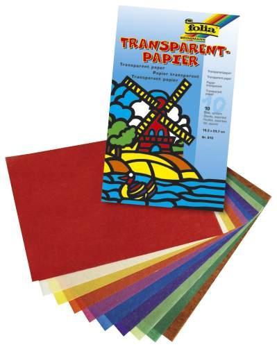 Folia Transparentpapier farbig sortiert