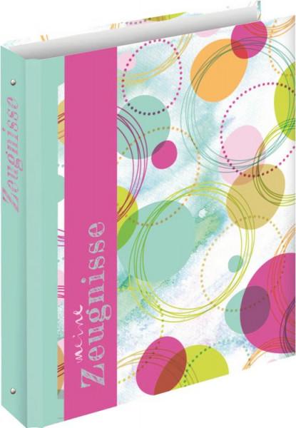 Zeugnisringbuch A4 Zeugnismappe Circles