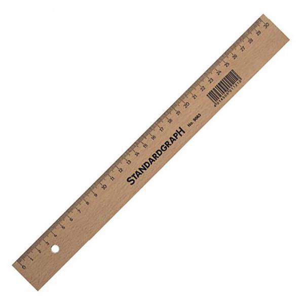 Standardgraph Holzlineal 20 cm mit Tuschekante