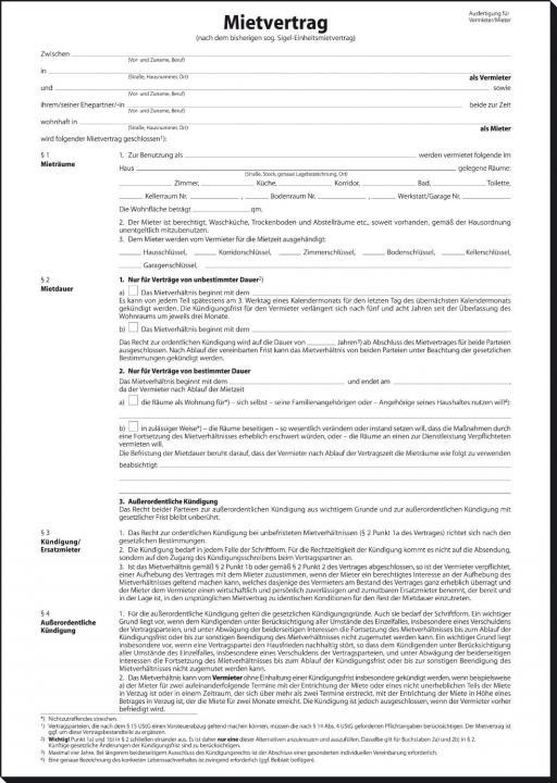 Sigel Mv464 Einheitsmietvertrag Kaufen Bei