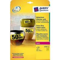 Zweckform L6105-20 Wetterfeste Etiketten gelb
