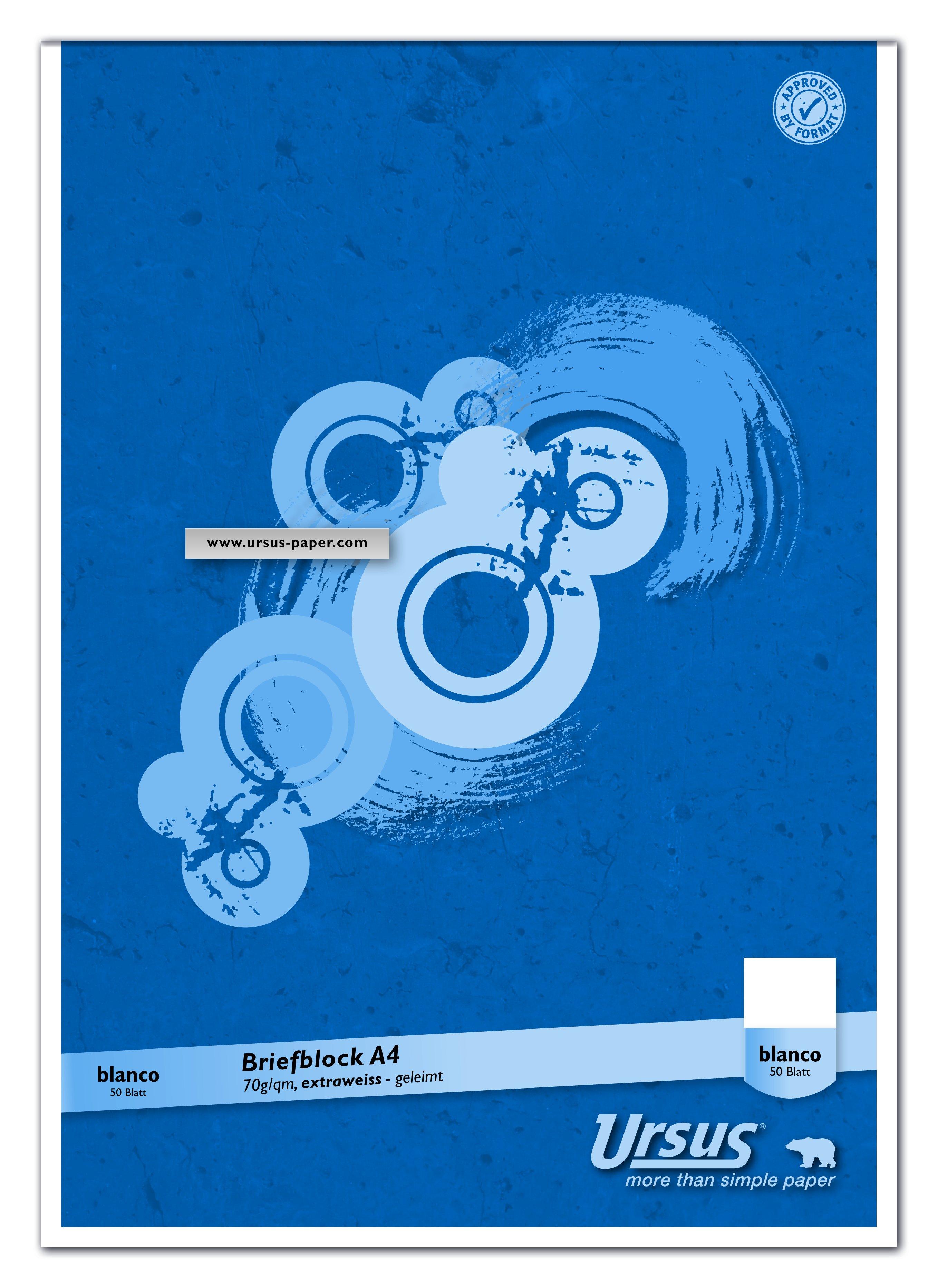 Briefblock DIN A4 blanko 50 Blatt