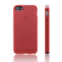 iPhone 5/5S Cover transparent rot