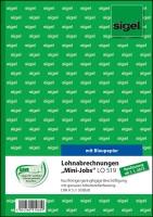 766417-SIGEL-LO519-Lohnabrechnungen-Mini-Jobs-A5-50-Blatt