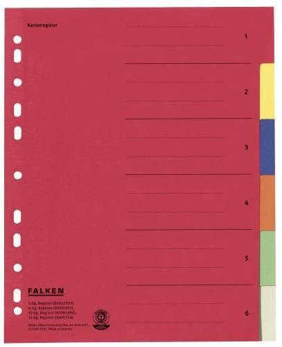 Falken Farbregister A4 aus Karton