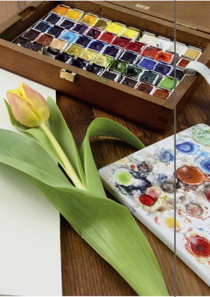 Sammelmappe A3 aus Karton mit Gummizug Motiv Tulpe