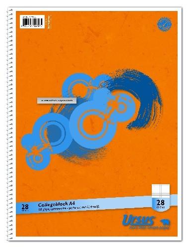 Collegeblock DIN A4 Lineatur 28 mit Rand links und rechts