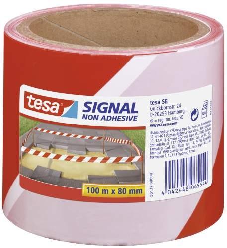 tesa Absperrband rot/weiß