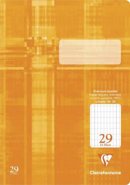fester 16 Blatt Clairefontaine Schulheft Lin 25 A4 transparenter PP-Einband