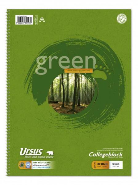 608570010-Green-Collegeblock-A4-Pure-Impact-liniert-80-Blatt