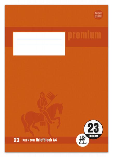 Staufen Premium Briefblock A4 ungelocht Lineatur 23