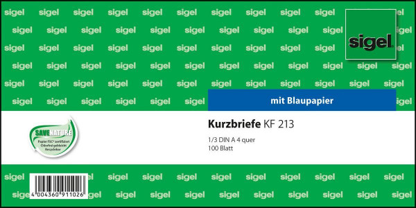766400-Sigel-Kurzmitteilungen-A4-quer-100-Blatt-Kurzbrief