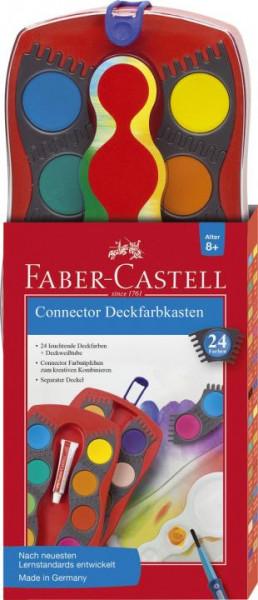 Faber-Castell CONNECTOR Farbkasten 24 Farben inkl. Deckweiß