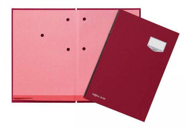 Pagna Unterschriftsmappe DE Luxe rot