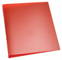 Q-CONNECT Ringbuch rot transparent