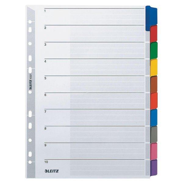 LEITZ Blanko Register A4 10 Blatt
