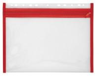 Reißverschlusstasche rot 287 x 214 mm