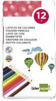 12 Farbstifte im Metalletui